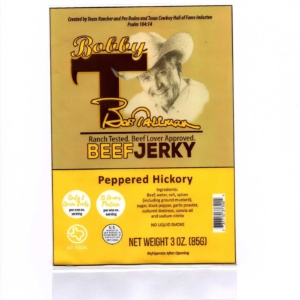 peppered hickory jerky