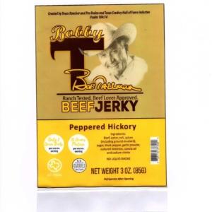 peppered hickory jerky