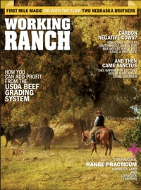Working Ranch Magazine Jan Cover